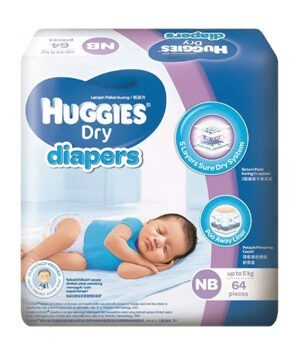 Huggies Dry Diapers NB