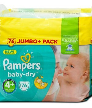 Pampers Baby Dry Diapers Jumbo Pack, Size 4+