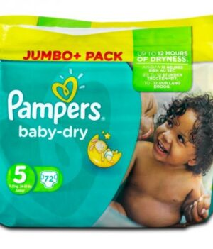 Pampers Baby Dry Diapers Jumbo Pack, Size 5