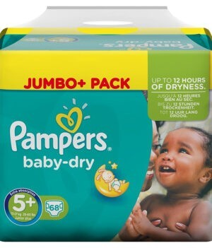 Pampers Baby Dry Diapers Jumbo Pack, Size 5+