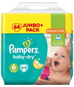 Pampers Baby Dry Diapers Jumbo Pack, Size 6