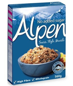 Alpen Muesli No Added Sugar 560g