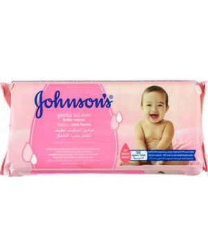 Johnson's Gentle All Over Baby Wipes - 56Pcs