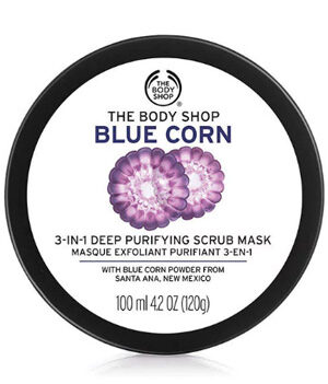 The Body Shop Blue Corn 3 In 1 Deep Purifying Scrub Mask 100ml