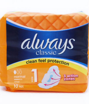 Always Classic Normal 1 Sanitary Pad – 10pads