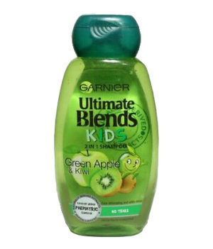 Garnier Ultimate Blends Kids 2in1 Shampoo Green Apple &Kiwi 250ml