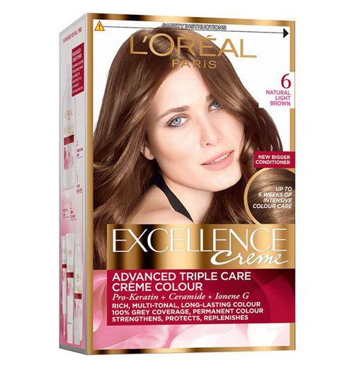 L'Oréal Paris Excellence Creme - Natural Light Brown 6