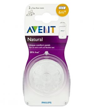 Philips Avent Fast Flow Teat 6+ Months - Pack of 2