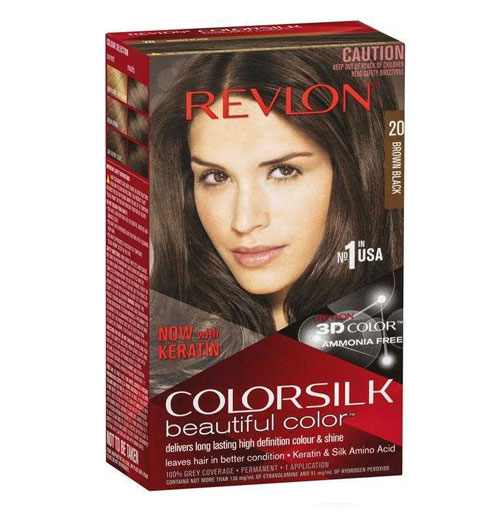 Revlon ColorSilk Beautiful Hair Color - Brown Black 20