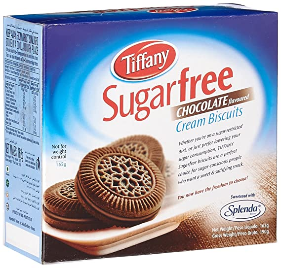 Tiffany Biscuit Sugar Free Chocolate, 162gm